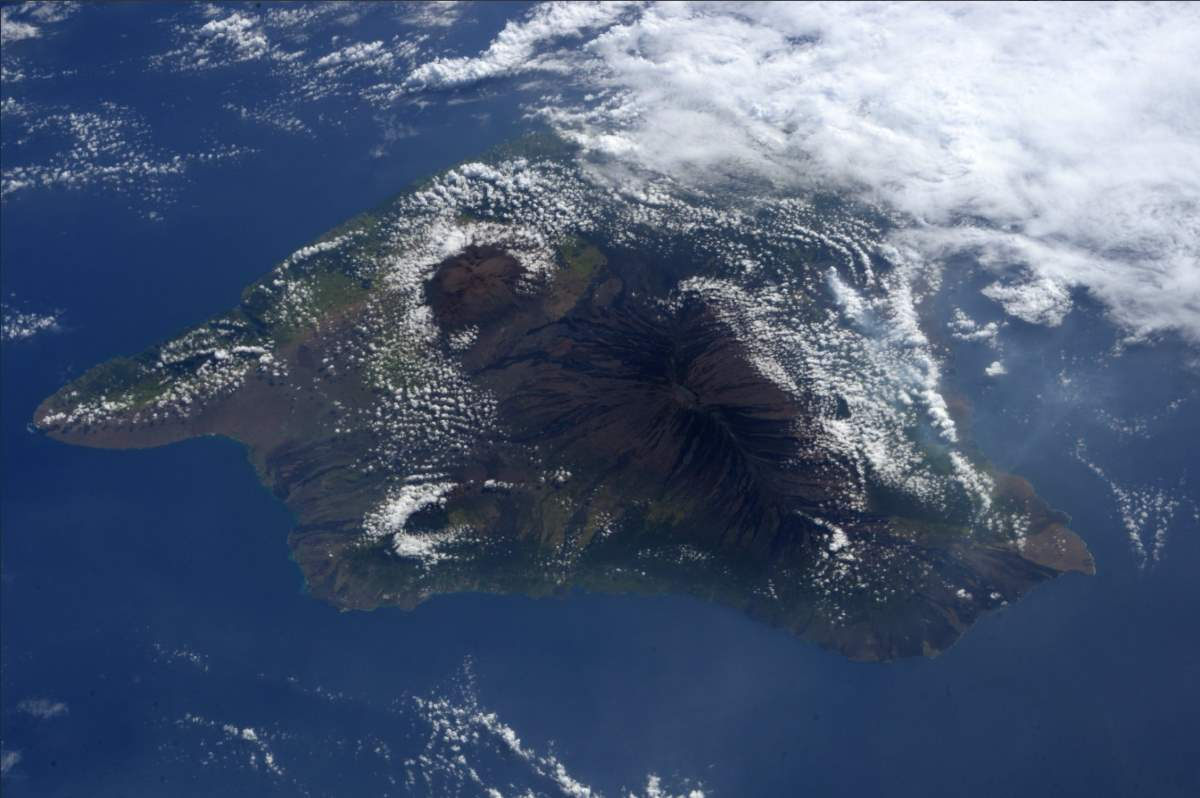 Big Island Hawaii from International Space Station, December 12, 2017