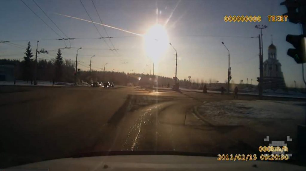Fireball created by the Chelyabinsk meteor. Why do meteoroids explode in the atmosphere?