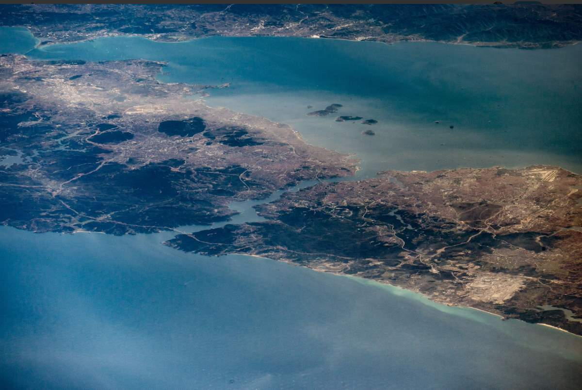 Istanbul from International Space Station. December 10, 2017