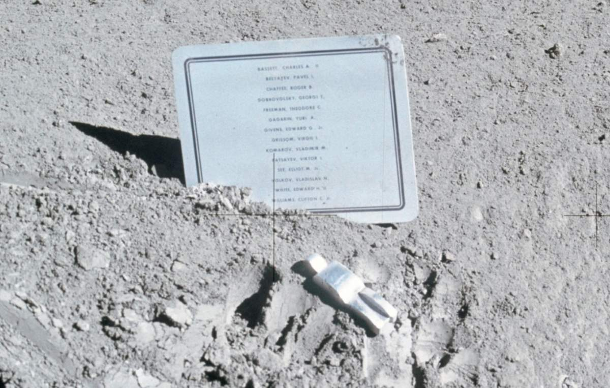 Memorial to Fallen Astronauts on the Moon