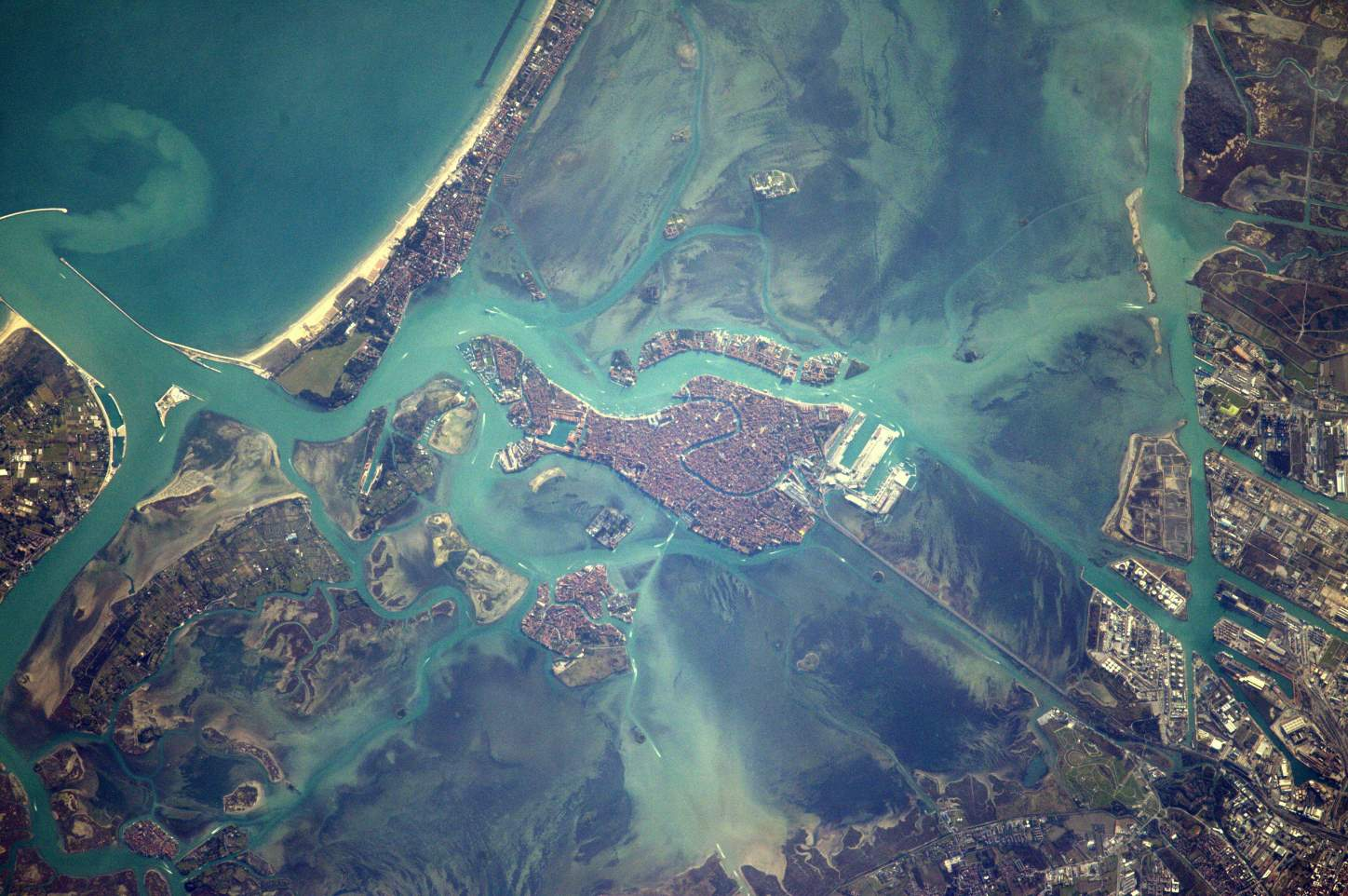 Top 10 Most Beautiful Earth Photos Taken From the International Space Station in 2017: Space Station Flight Over Venice. February 14, 2017