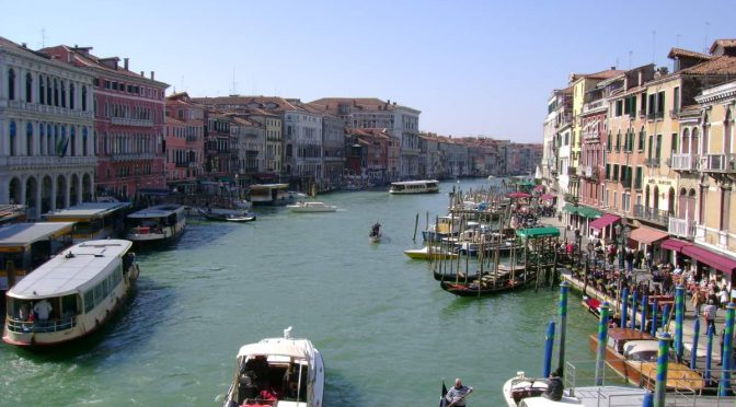 Venice, Grand Canal from the Rialto Bridge