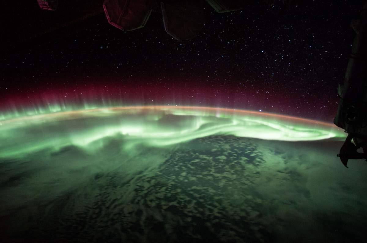 Watching the Aurora from ISS, June 26, 2017