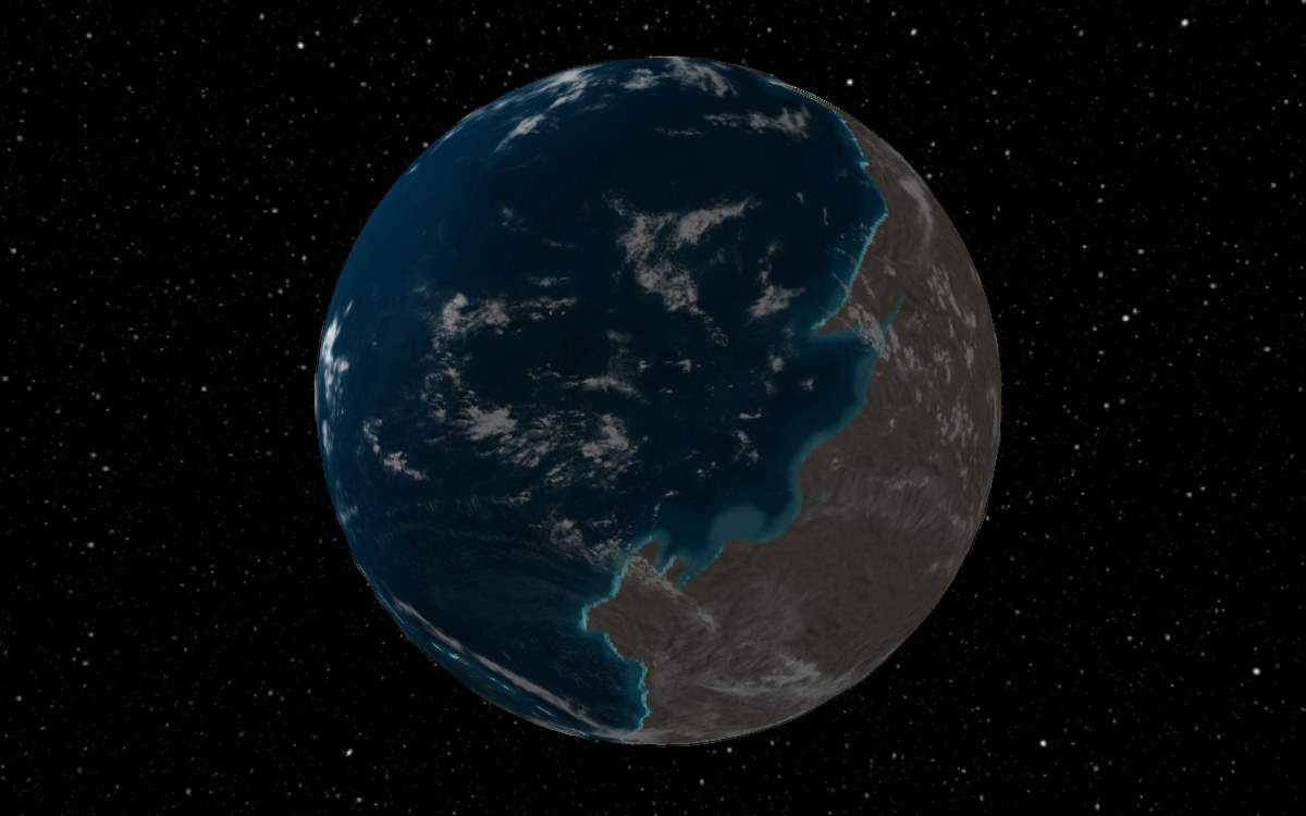 Ancient Earth (600 million years ago)