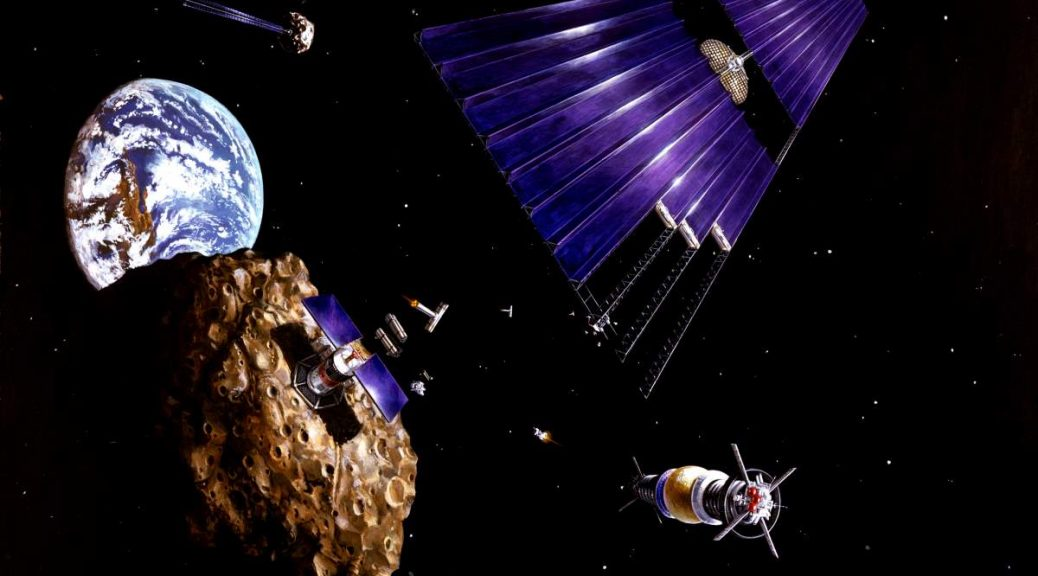 Asteroid Mining (Artist Conception)