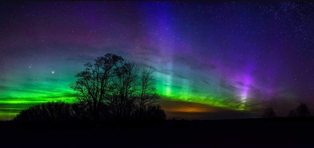 An Aurora Borealis photographed in Estonia