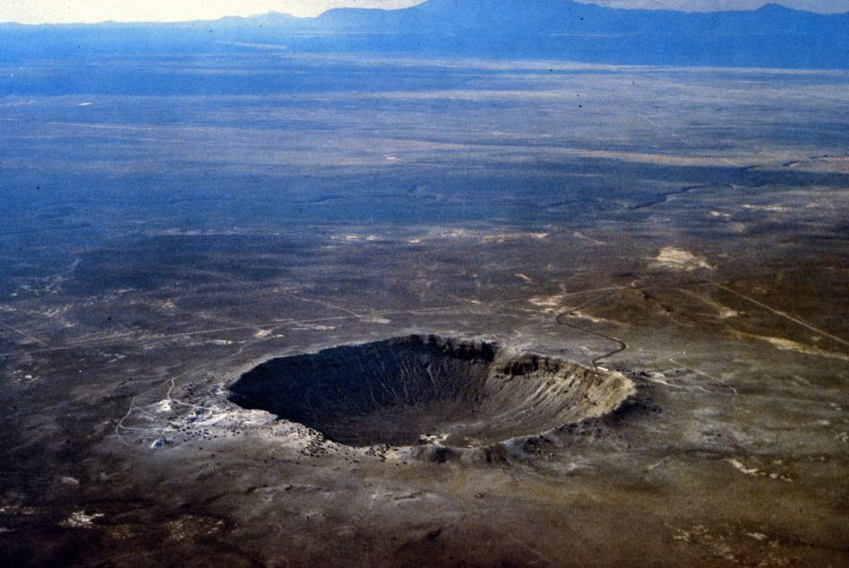 Barringer Crater aerial photo