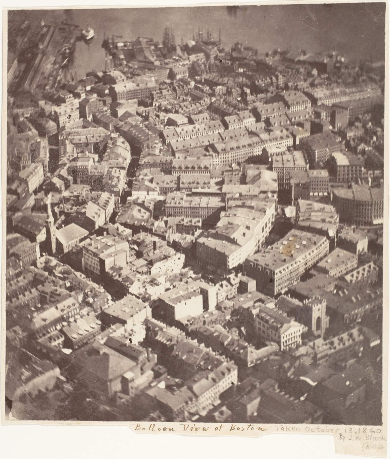 The oldest surviving aerial photo: Boston, as the Eagle and the Wild Goose See It (1860)