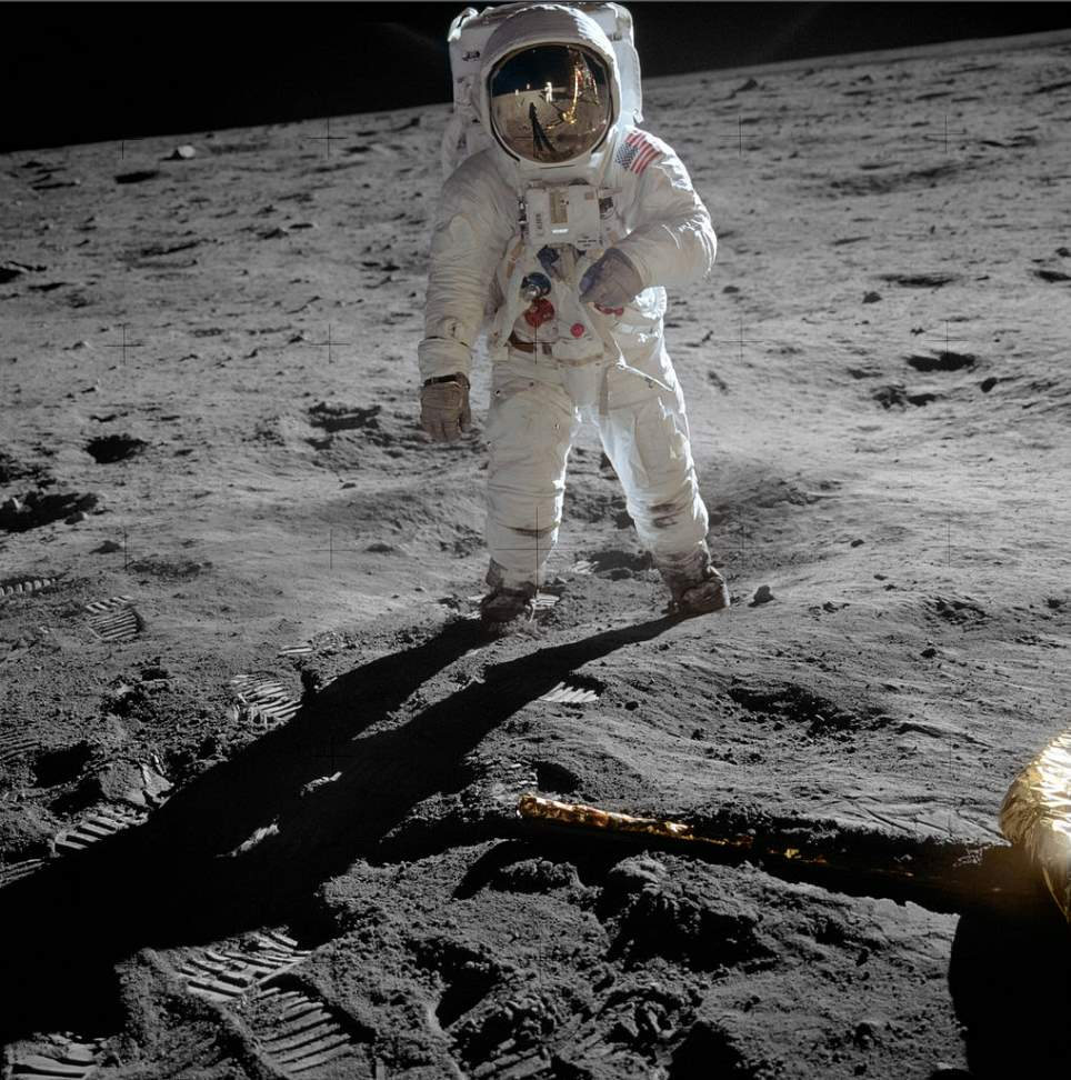 "Moon Landing - Buzz Aldrin on the Moon. ""I was on the Moon!"""