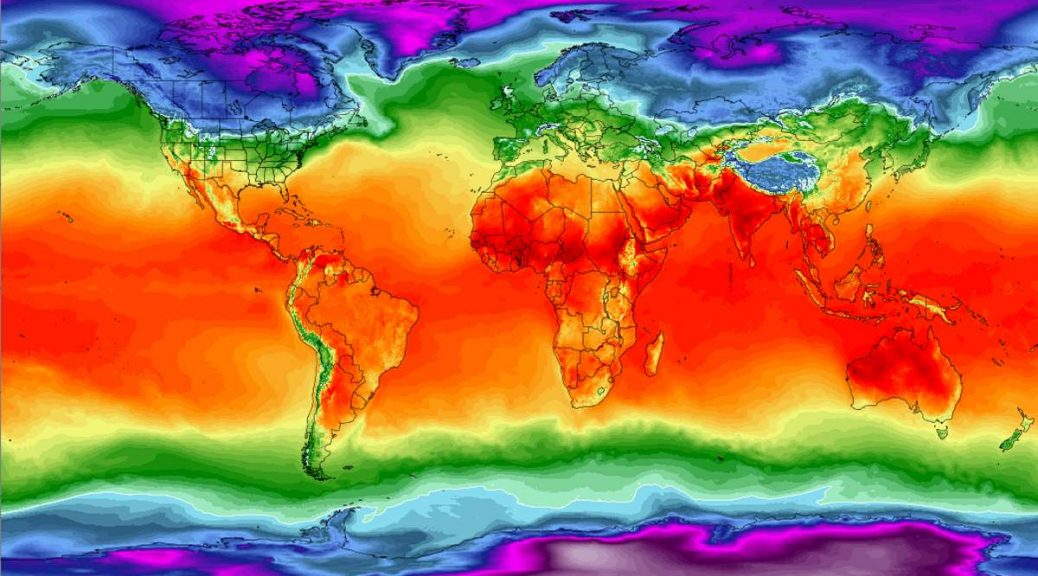 Climate Reanalyzer World Temperature Map As of March 31, 2018