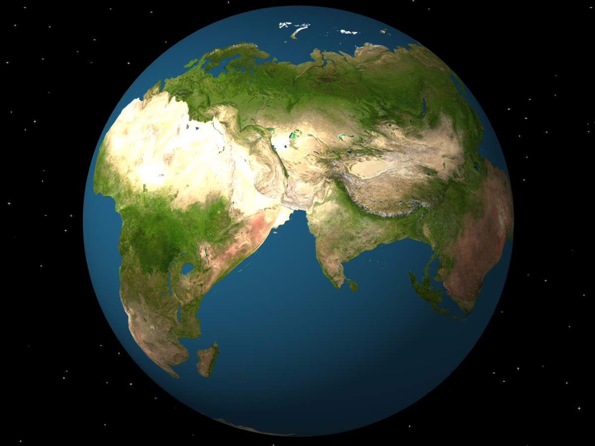 Earth, 250 million years in future: Pangaea Ultima