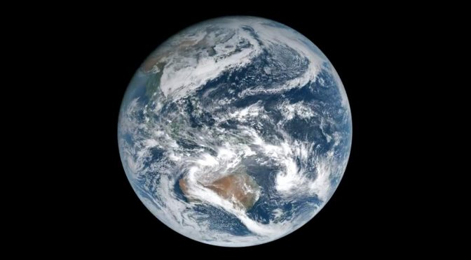 Earth from the Geostationary Orbit