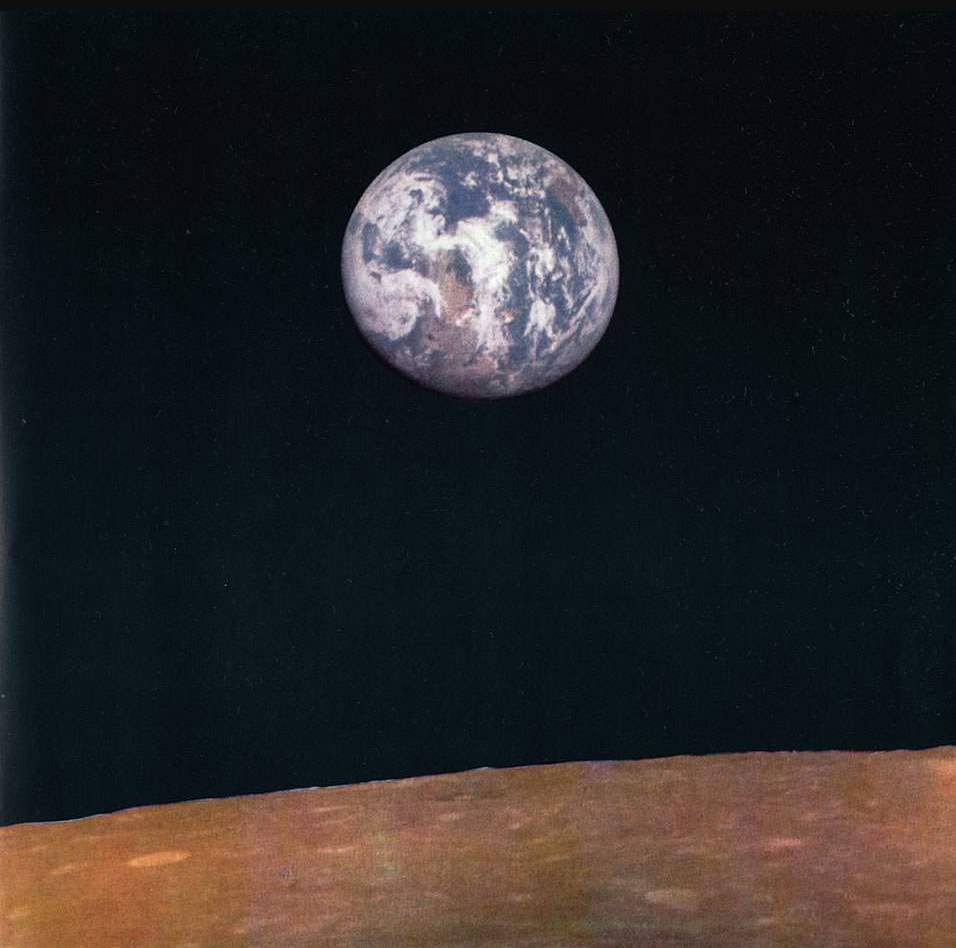 Earthrise as seen from the Moon. Zond 7 photo (1969) - 02