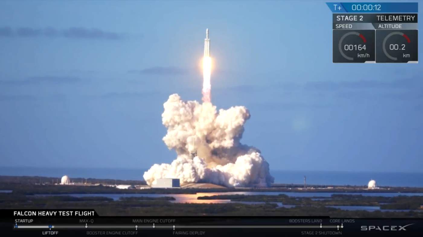 Falcon Heavy Test Flight: Liftoff