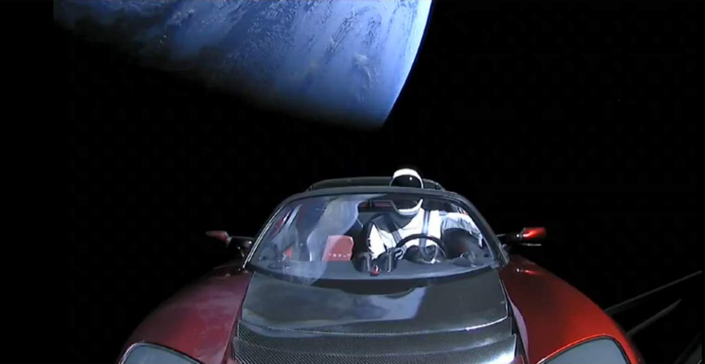 Falcon Heavy Test Flight: Starman and Earth 2.