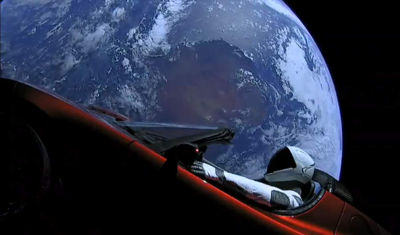 Falcon Heavy Test Flight: Starman and Earth 3.
