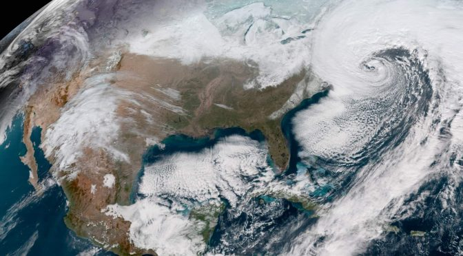 Historic Bomb Cyclone from Space