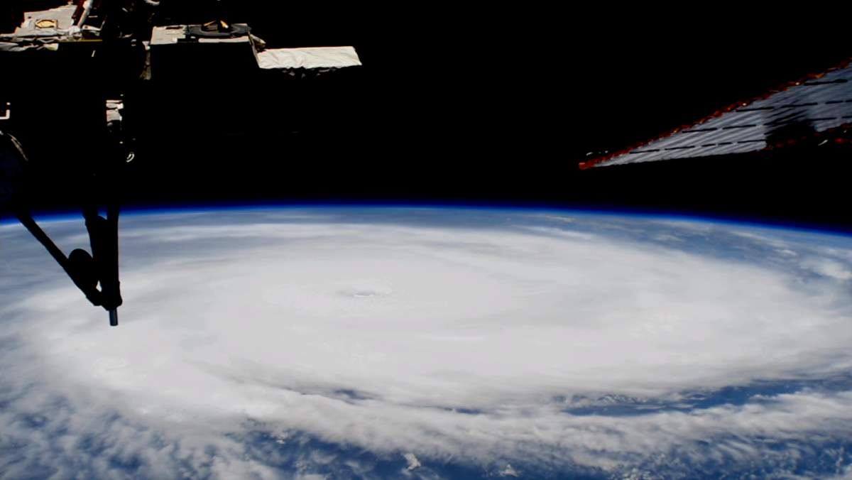 ISS pass over Hurricane Irma