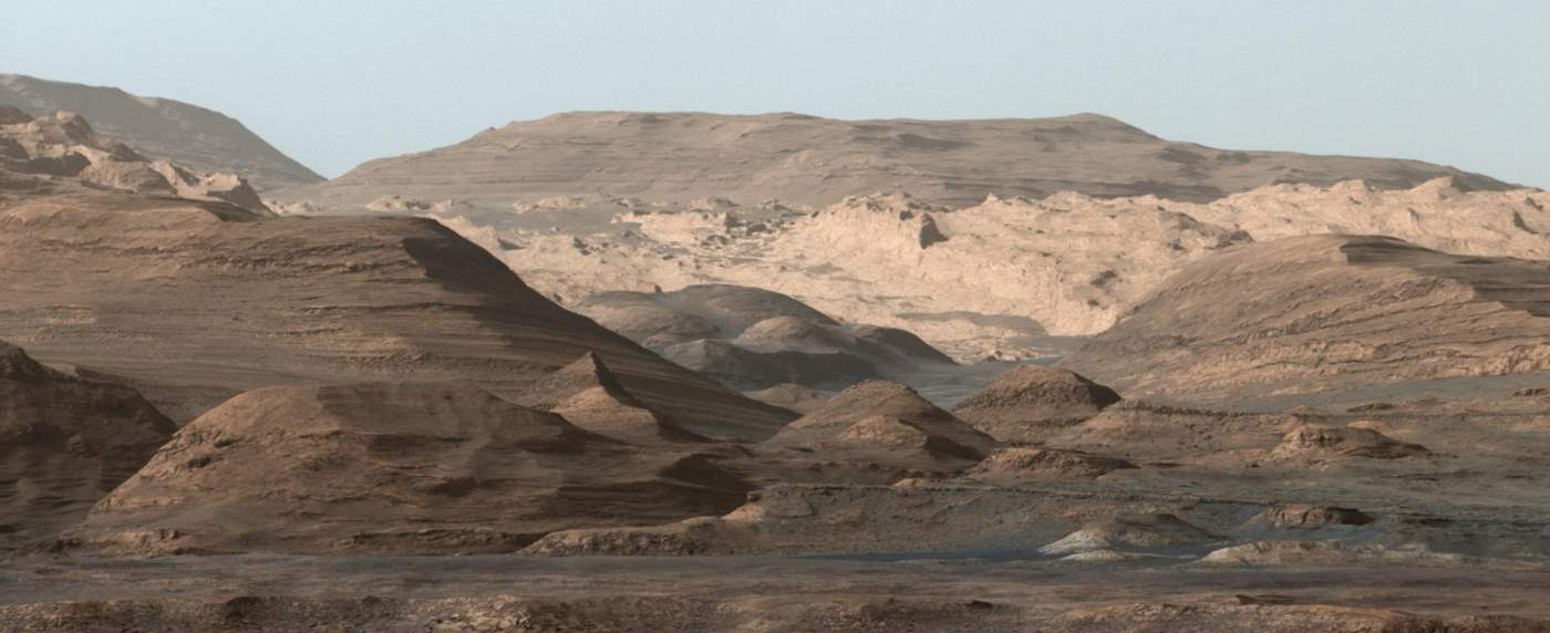 Mars Curiosity Rover view of Mount Sharp