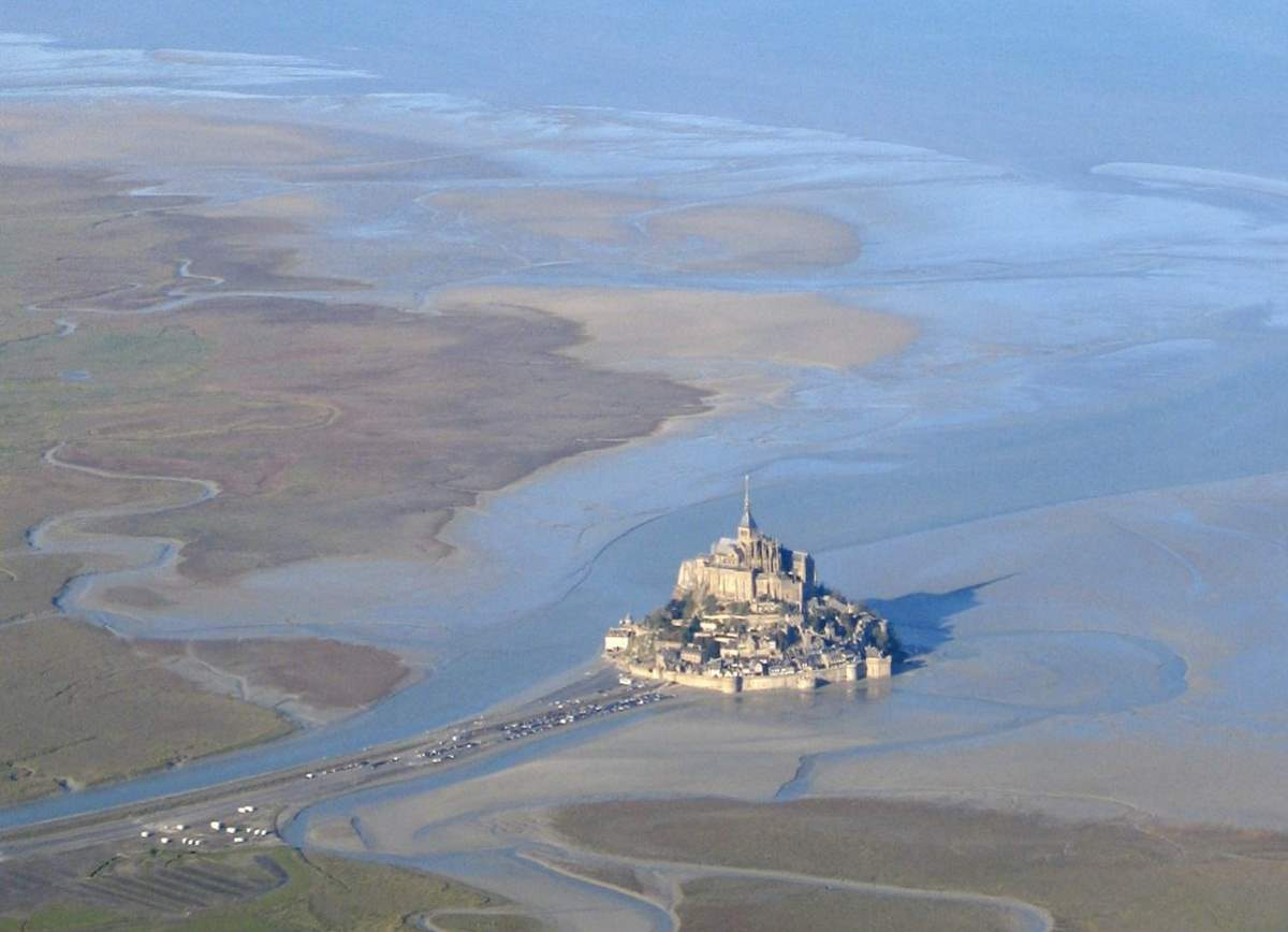 Mont Saint-Michel aerial view