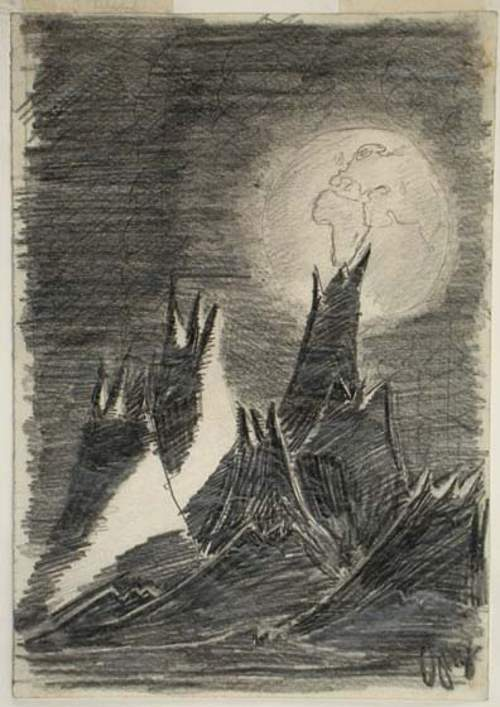Moon Landscape (1944) by Petr Ginz