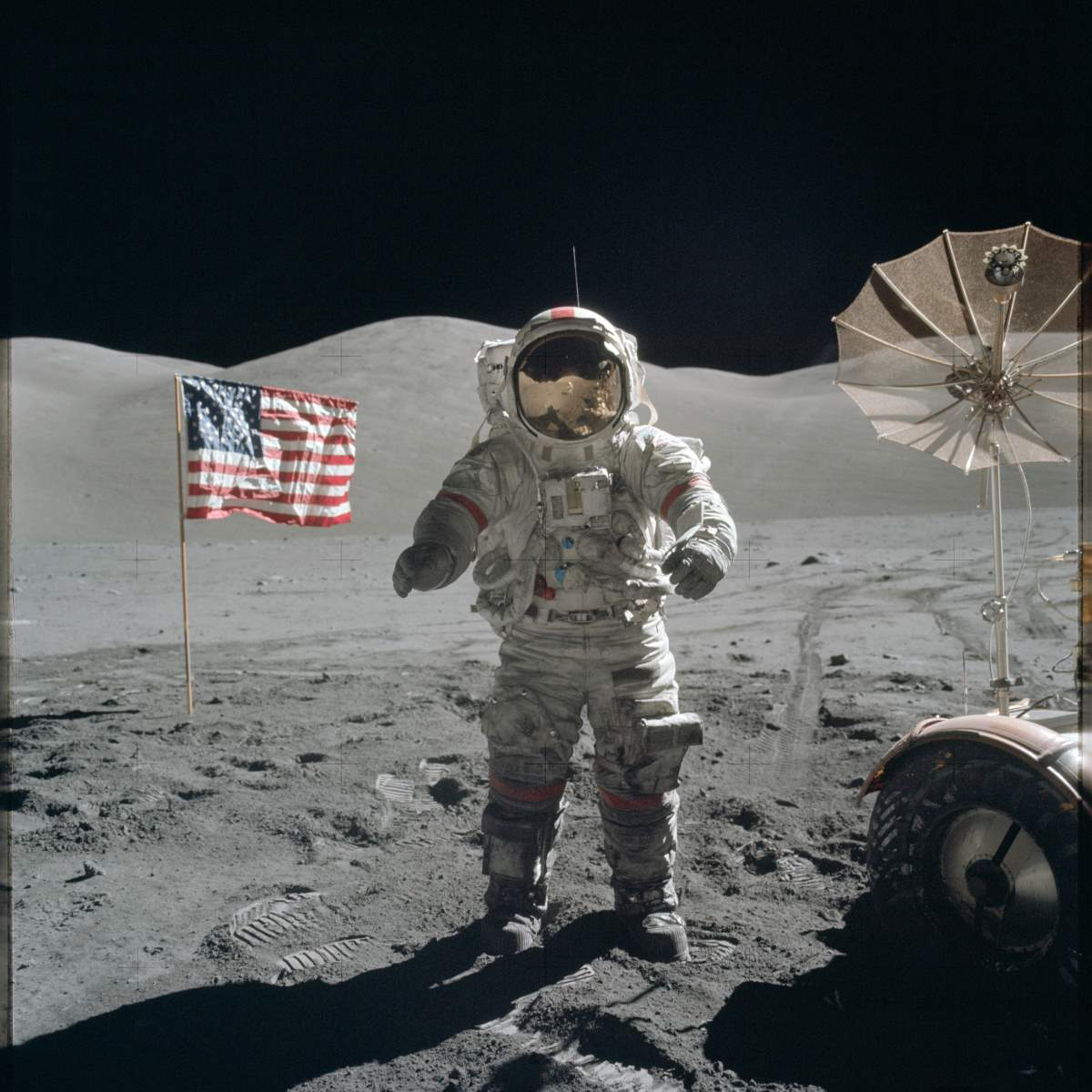 Space race - Moonwalk - Apollo 17 Mission image