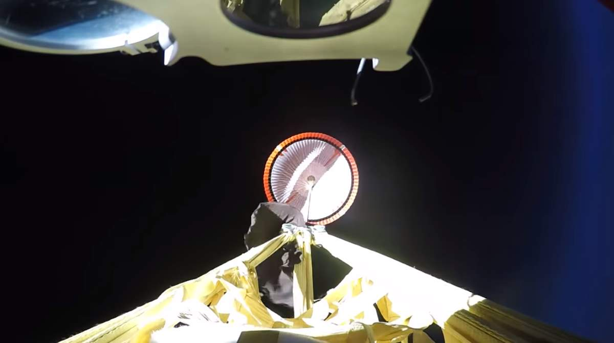 NASA Mars 2020 Supersonic Parachute Test Flight #1