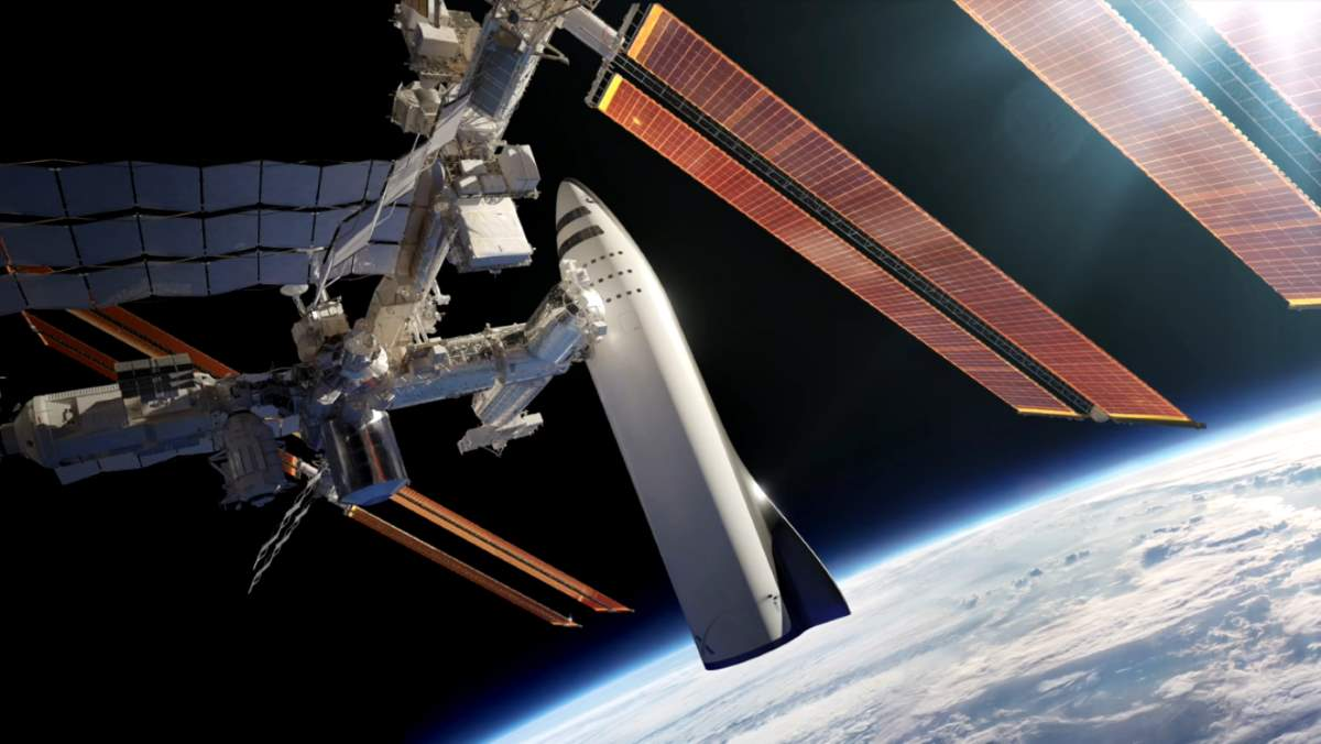 SpaceX BFS servicing the International Space Station