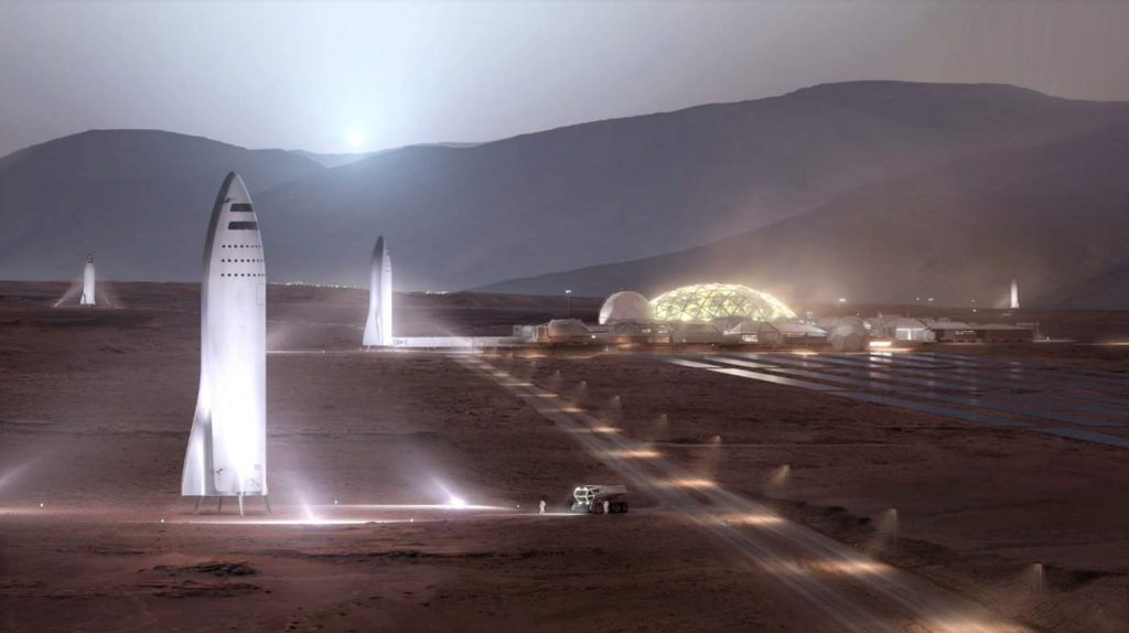 SpaceX Mars base