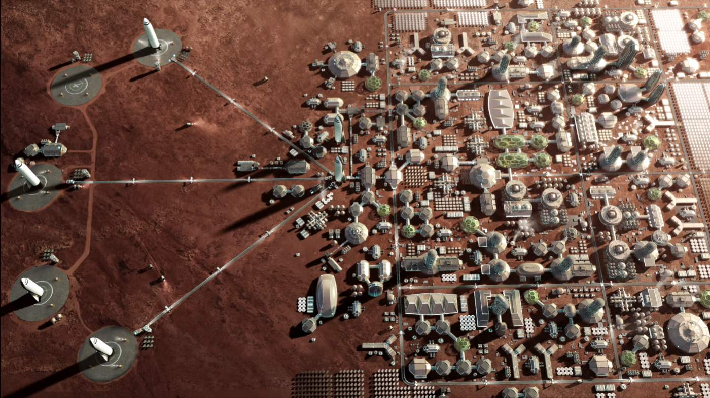 SpaceX Martian city
