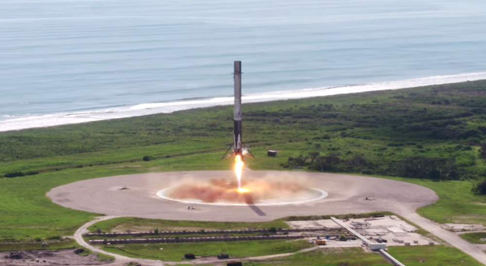 SpaceX propulsive landing test