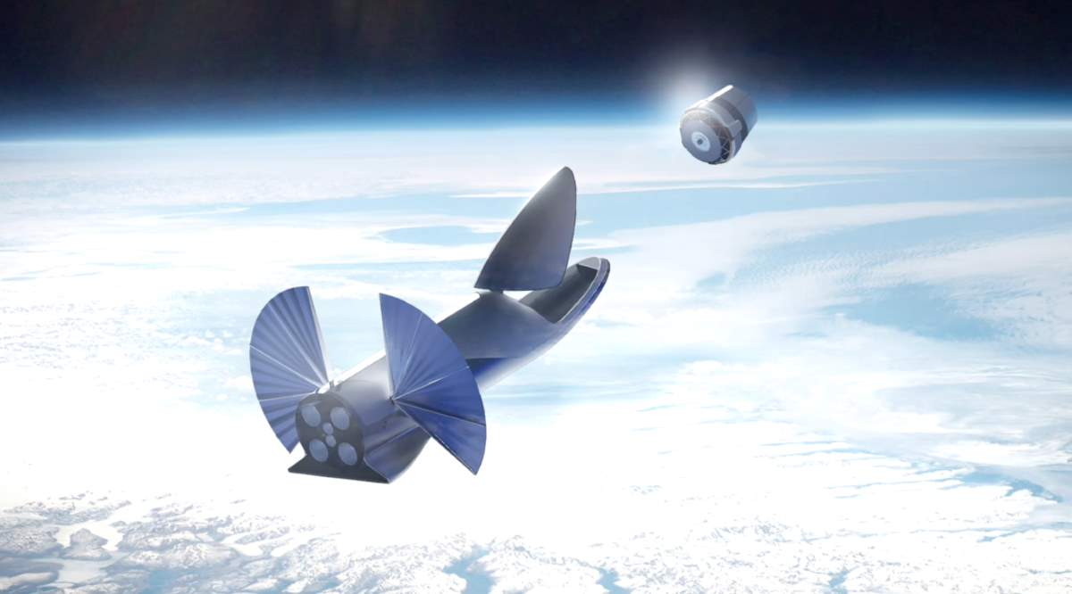 SpaceX using BFS to put a satellite into orbit