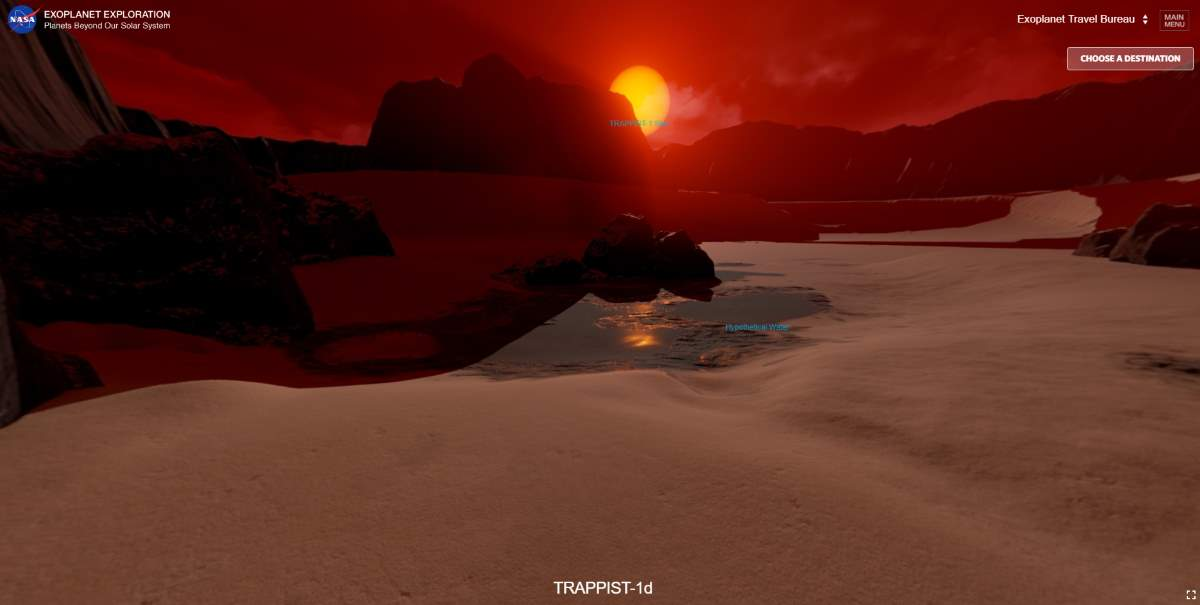 TRAPPIST 1e surface (artist depiction by NASA)