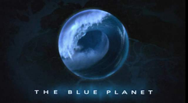 The Blue Planet series title card from UK broadcast.