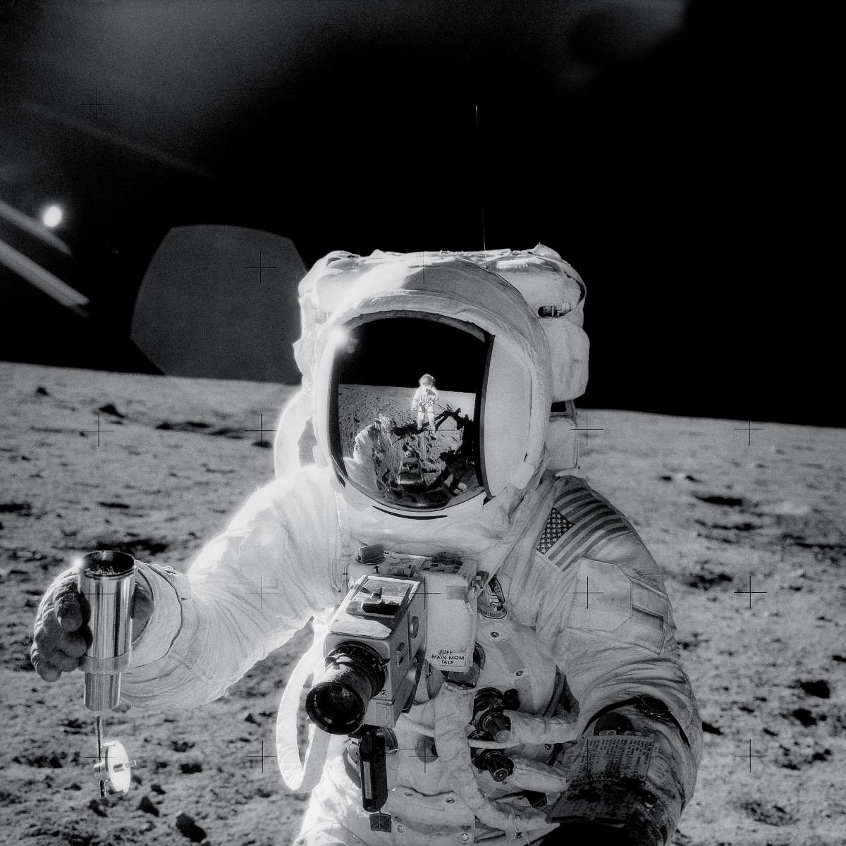 Alan Bean on the moon during the Apollo 12 mission