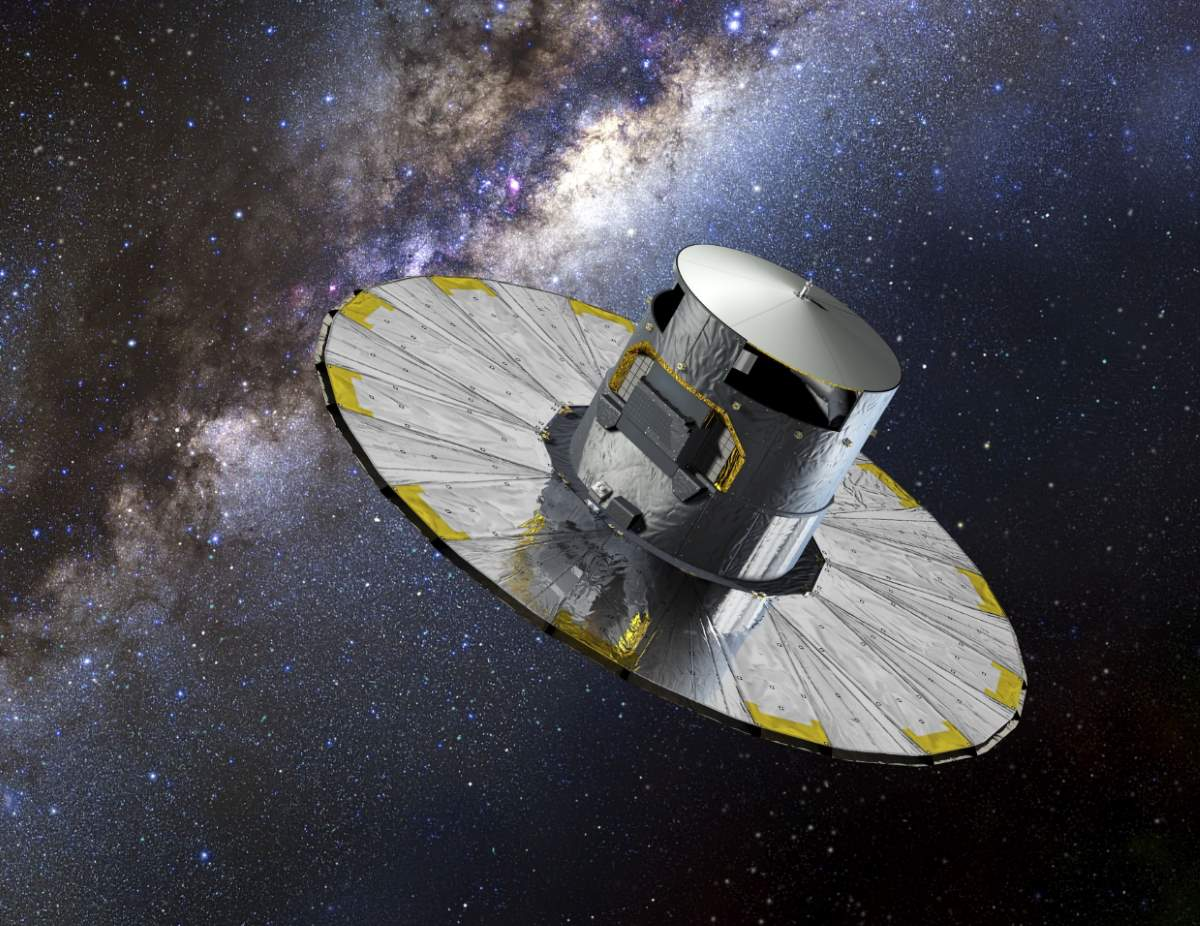 Top 20 Exciting Advances in Space Science in the 2010s: Gaia spacecraft (artist conception)
