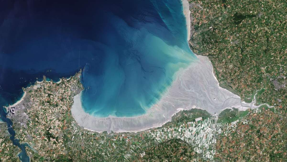 Mont Saint-Michel from space (cropped)