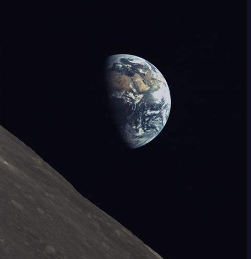 Earth from Moon (taken by the Chinese Queqiao satellite) of Chang'e 4 mission