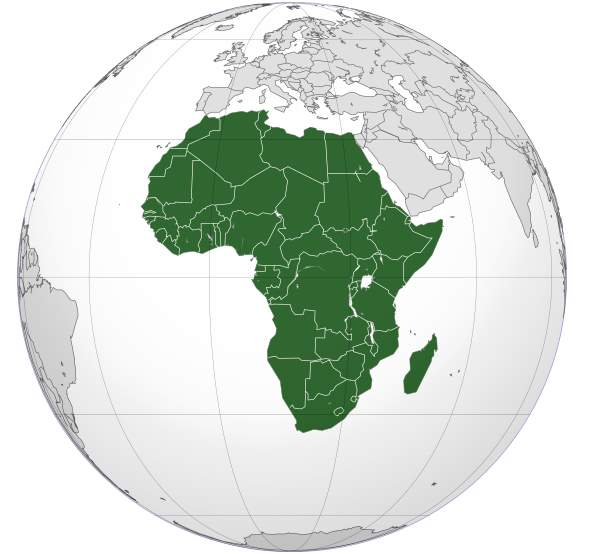 Geography Facts - Africa (orthographic projection)