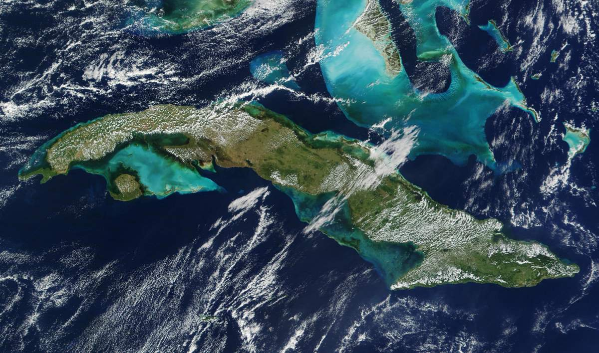 Largest Islands on Earth: Cuba from space