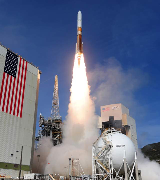The First Delta IV Medium in 5/2 configuration launch