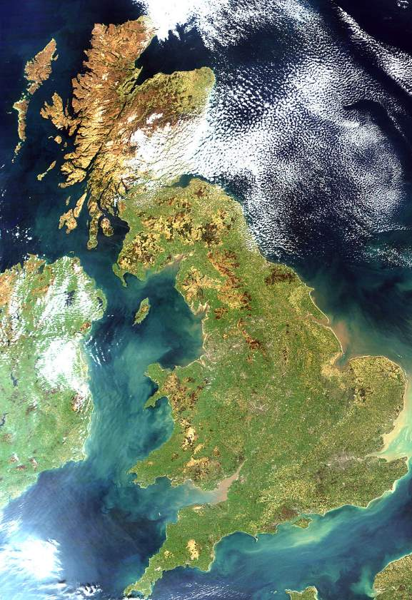 Largest Islands on Earth: Great Britain from space