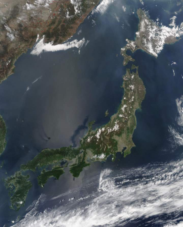 Largest Islands on Earth: Japan from space
