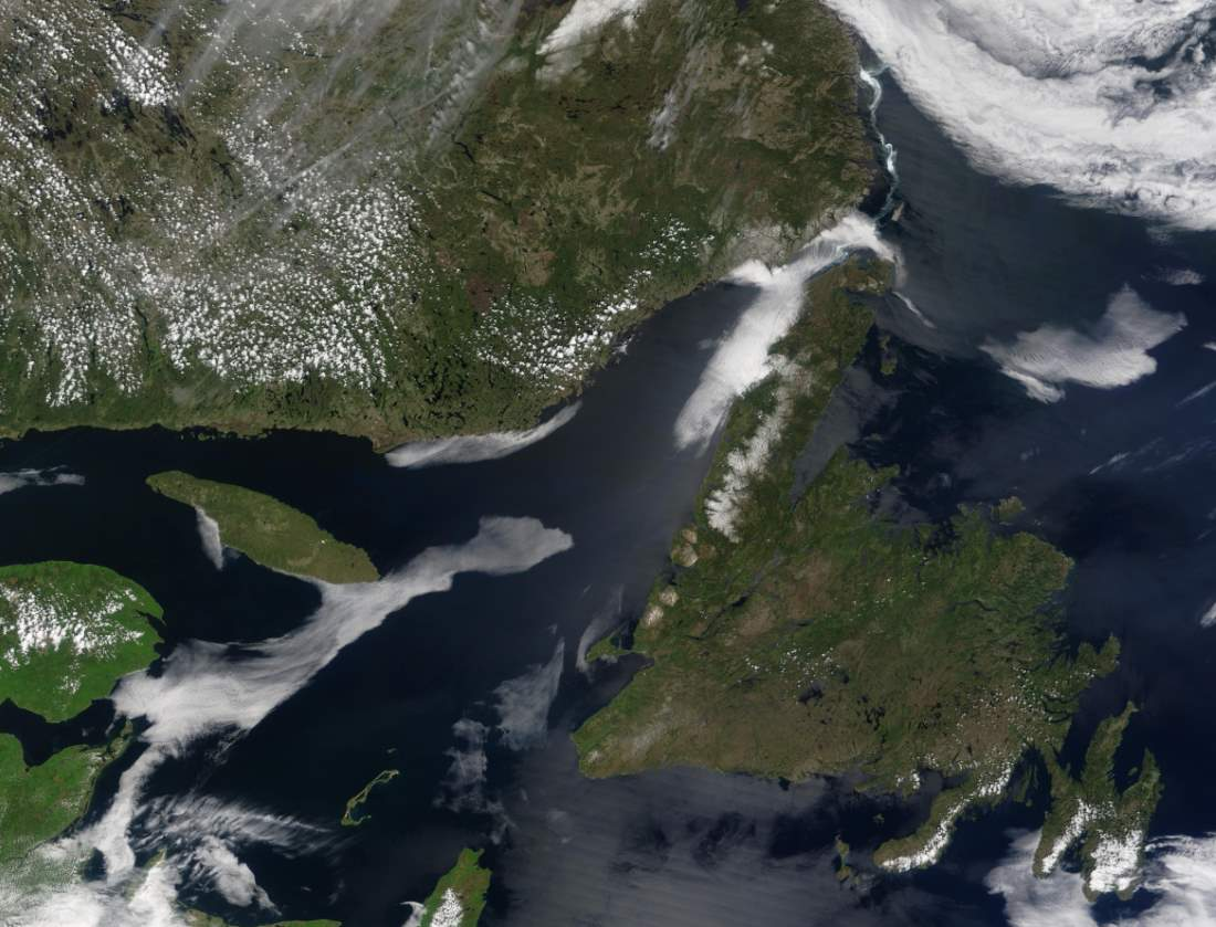 Largest Islands on Earth: Newfoundland from space