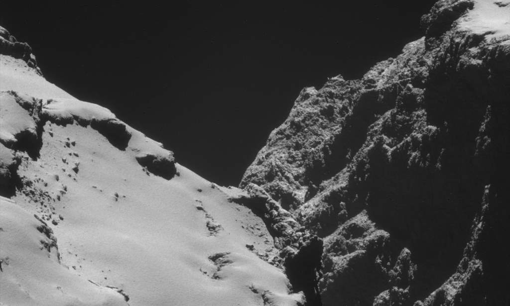 Rosetta image of 67/P Churyumov-Gerasimenko (October 28, 2014)