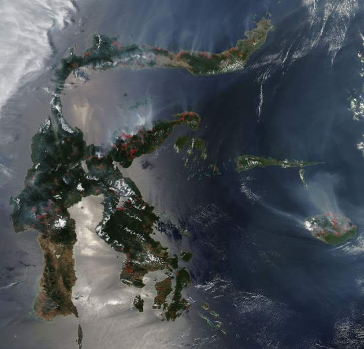Largest Islands on Earth: Sulawesi from space