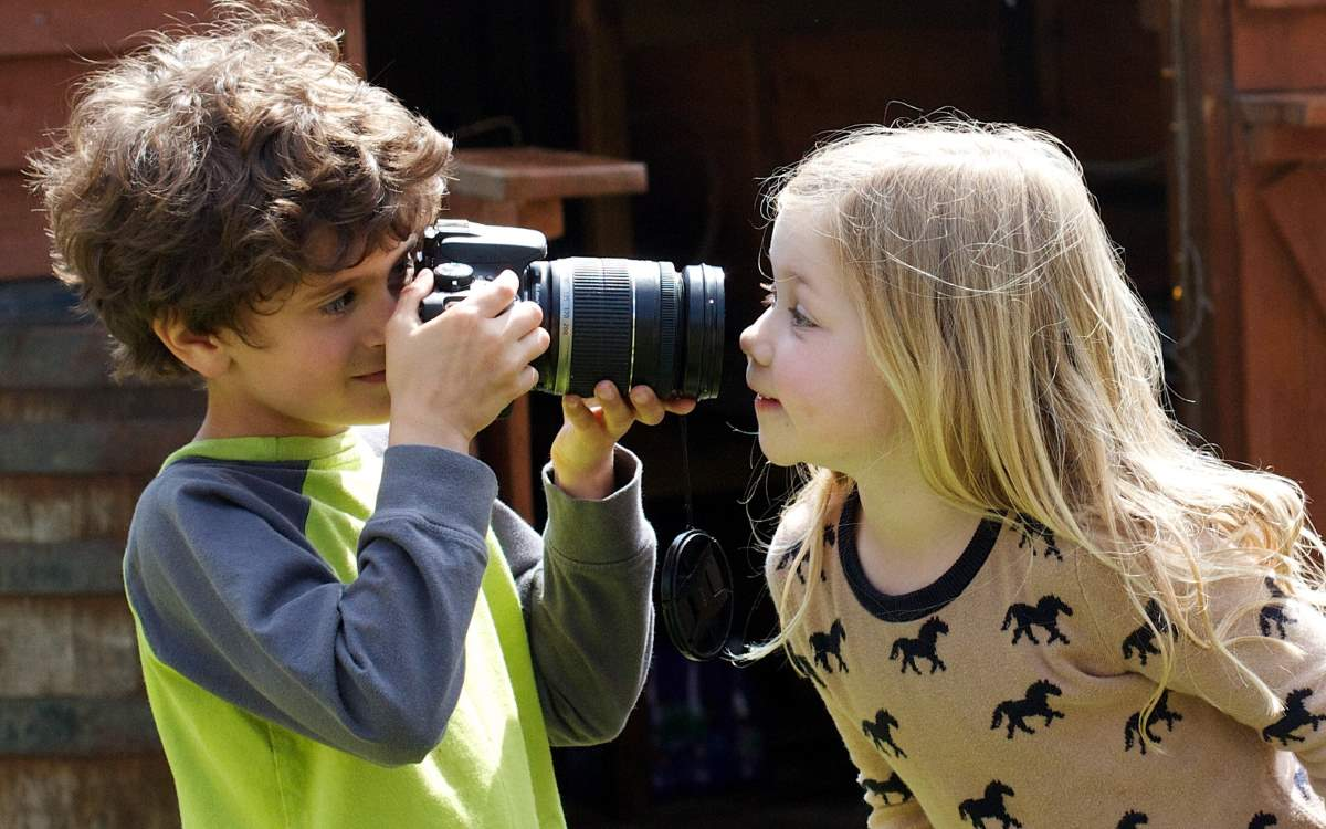 Teaching photography to the kids
