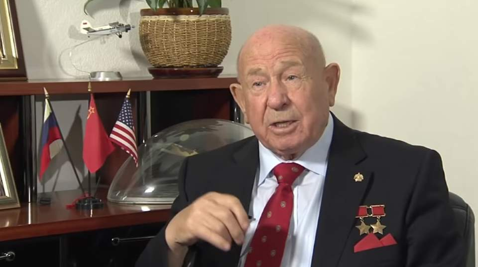 The first spacewalker Alexey Leonov in 2015