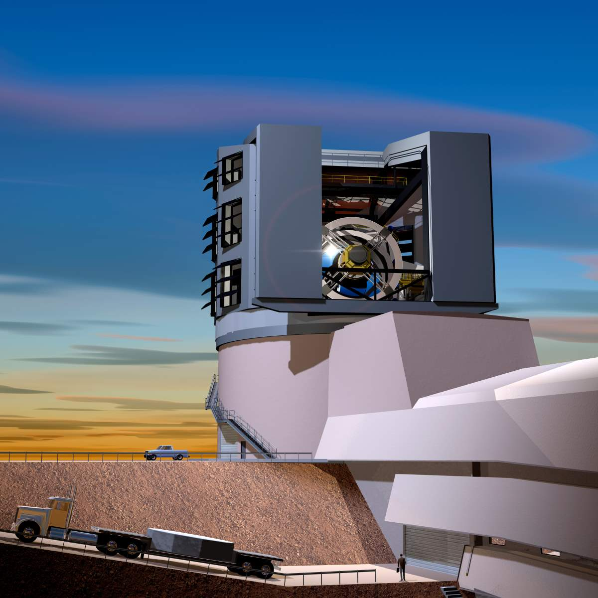 Large Synoptic Survey Telescope (LSST) Primary Mirror - Artist Conception