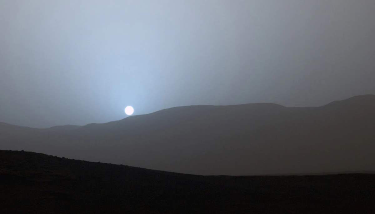 Mars Sunset. April-15, 2015